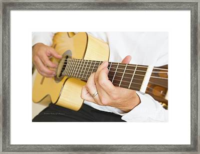 Guitarist Framed Print