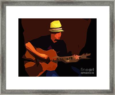 Guitarist Framed Print by Soumya Bouchachi