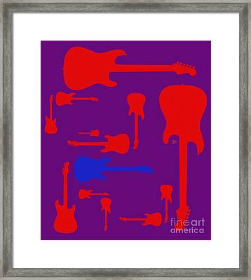 Framed Print featuring the digital art Guitarpop 2 by Andy Heavens