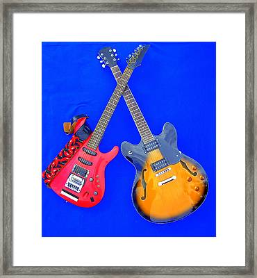 Double Heaven - Guitars At Rest Framed Print