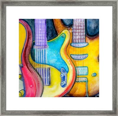 Guitars Framed Print by Debi Starr