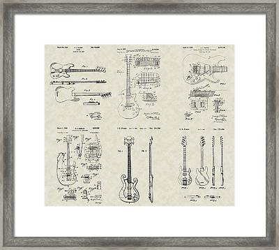 Guitars Patent Collection Framed Print