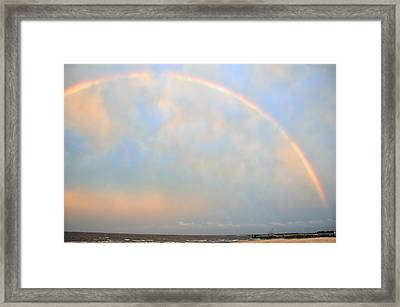 Framed Print featuring the photograph Gulf Coast Rainbow by Charlotte Schafer