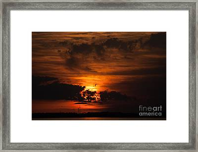 Gulf Coast Sunset 1 Framed Print