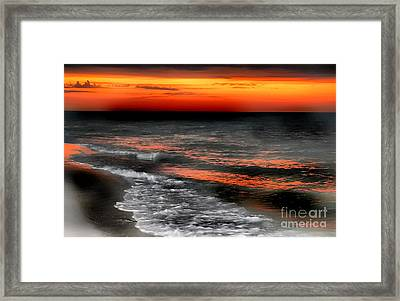 Gulf Coast Sunset Framed Print