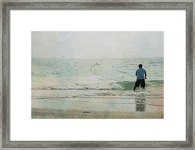 Gulf Fishing Framed Print