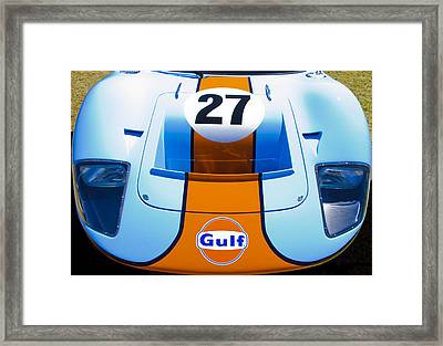 Gulf Ford Gt40 Framed Print by motography aka Phil Clark