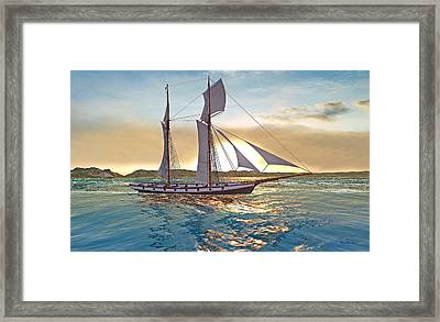 Gulf Of Mexico Area In The World Playground Scenery Project  Framed Print