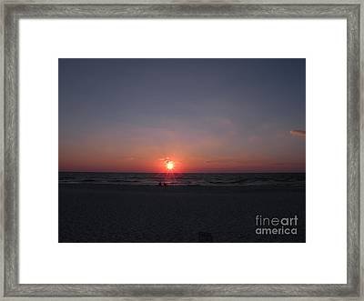 Gulf Of Mexico Sunset Port St Joseph Peninsula Framed Print by Lora Duguay