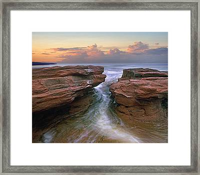 Gulf Of Saint Lawrence Coast Prince Framed Print by Tim Fitzharris