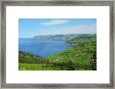 Gulf Of Saint Lawrence Coastline Seen Framed Print