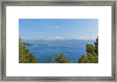 Gulf Of Tigullio, Italy Framed Print by Ken Welsh