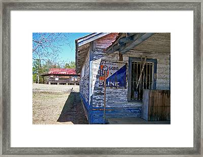 Gulf Store Framed Print by Larry Bishop