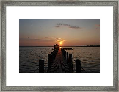 Gulf Sunrise 1 Framed Print
