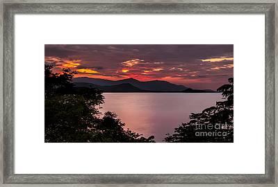 Gulf Sunset Framed Print by Adrian Evans