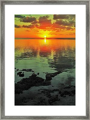 Gulf Sunset Framed Print by Benjamin Yeager