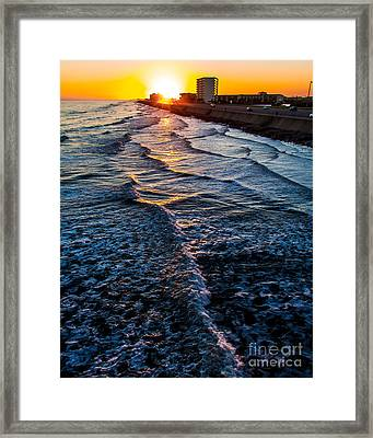 Gulf Sunset Framed Print by Perry Webster
