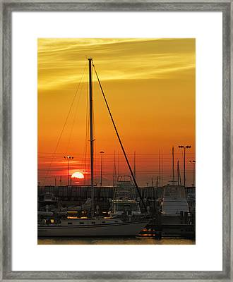 Gulfport Harbor Framed Print
