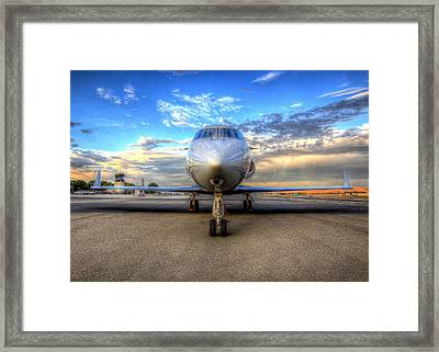 Gulfstream Gx450 At Livermore Klvk With Virga Framed Print