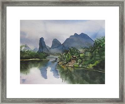 Gulin Reflection Framed Print by Alfred Ng
