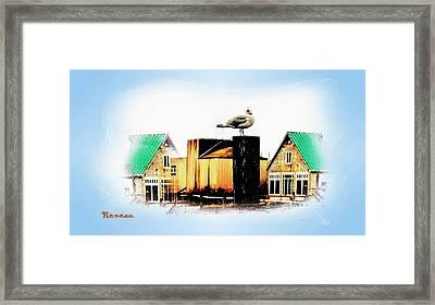 Gull House Framed Print by Sadie Reneau
