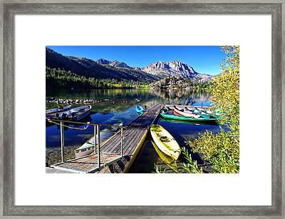 Gull Lake Marina Fall Morning Framed Print by Scott McGuire