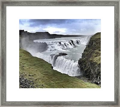 Gullfoss Falls Sw Iceland Framed Print