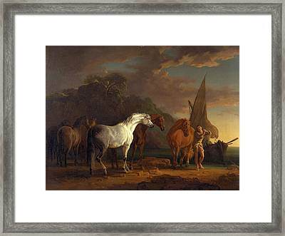 Gulliver Taking His Final Leave Of The Land Framed Print by Litz Collection