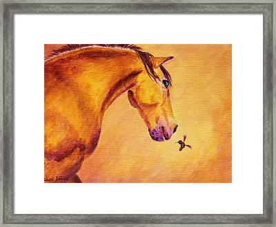 Gullivers Feathered Friend Framed Print by Wendi Matson