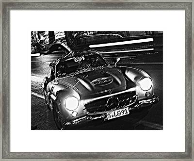 Gullwing In Rome Framed Print by Steve Natale