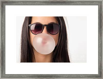 Gum Girl Framed Print by Carlos Caetano