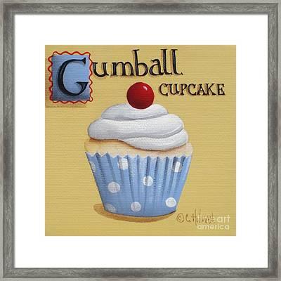 Gumball Cupcake Framed Print