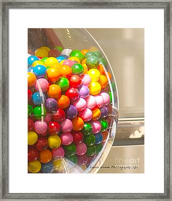 Gumball Machine Framed Print by Artist and Photographer Laura Wrede
