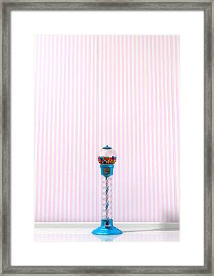 Gumball Machine In A Candy Store Framed Print