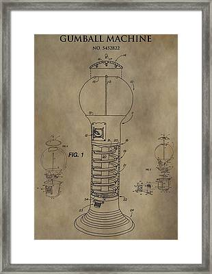 Gumball Machine Patent Framed Print