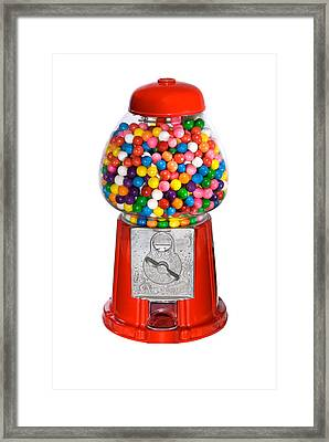 Gumball Vending Machine Framed Print