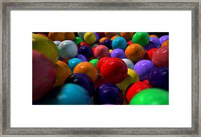 Gumballs Up Close And Personal Framed Print