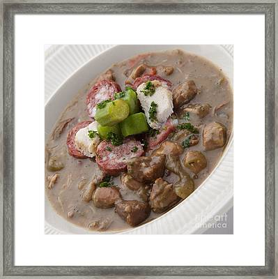 Gumbo Framed Print by New  Orleans Food