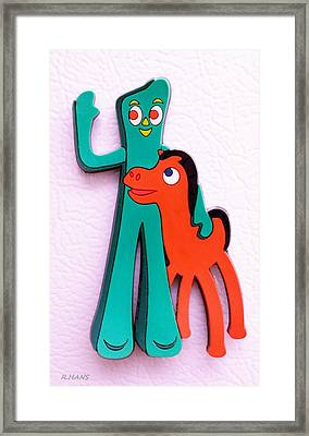 Gumby And Pokey B F F Framed Print by Rob Hans