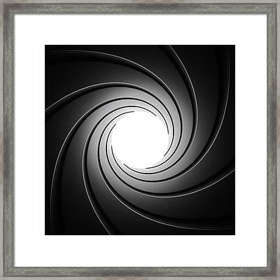 Gun Barrel From Inside Framed Print by Johan Swanepoel