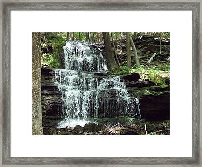 Gun Brook Falls Framed Print