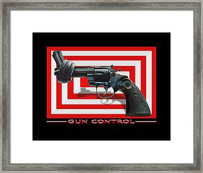 Gun Control Framed Print by Mike McGlothlen