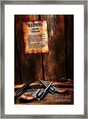 Gun Control Framed Print