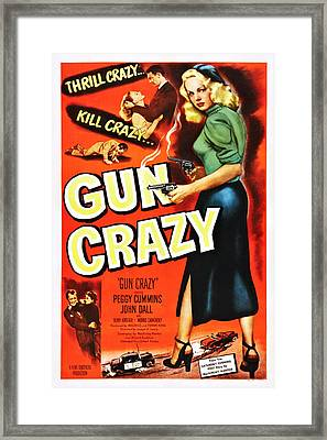 Gun Crazy, Peggy Cummins, John Dall Framed Print