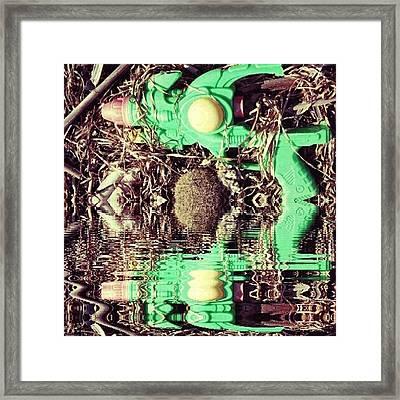 #gun #game #futuristic #cyberpunk Framed Print