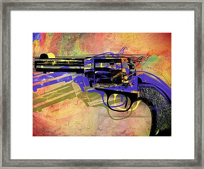 gun Framed Print by Mark Ashkenazi