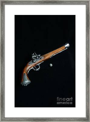 Gun - Musket With Musket Ball Framed Print