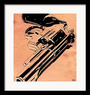 Guns Drawings Framed Prints