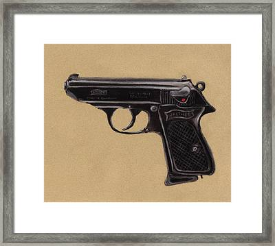 Gun - Pistol - Walther Ppk Framed Print
