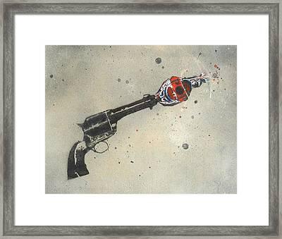 Gun Pop Framed Print